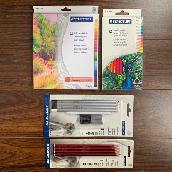 STAEDTLER set: soft pastel, color pencil, charcoal